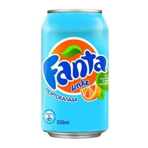 Πορτοκαλάδα Fanta μπλε 330ml